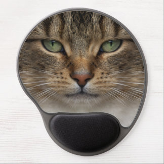 Tabby Cat Face Gel Mouse Pad