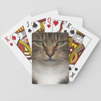 Tabby Cat Face Playing Cards
