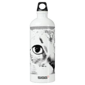 Tabby Cat Face Water Bottle