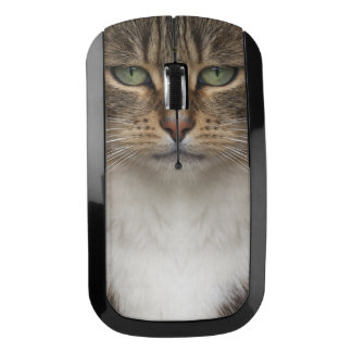 Tabby Cat Face Wireless Mouse