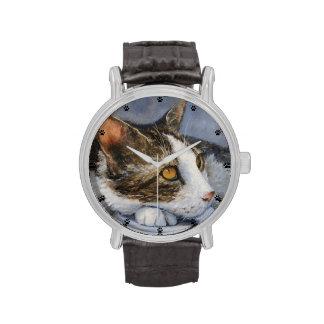 Tabby Cat Fine Art Wrist Watch