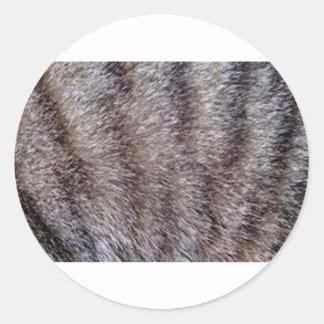 Tabby cat fur.jpg classic round sticker