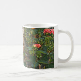 Tabby Cat Garden Ornament Coffee Mug