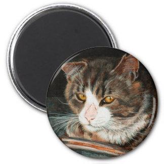 Tabby Cat golden eyes Magnet