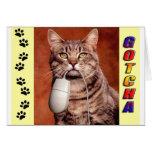 Tabby Cat Gotcha Card