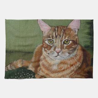 Tabby Cat Hand Towel