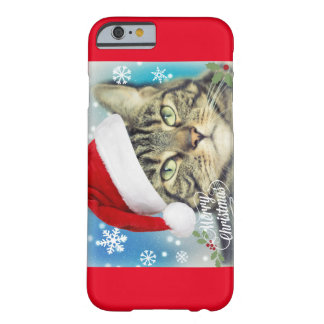 Tabby Cat in Santa Hat Barely There iPhone 6 Case