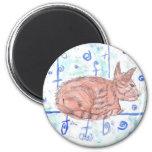 Tabby Cat in Watercolors Fridge Magnet