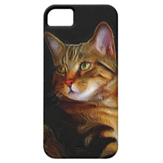Tabby cat iPhone 5 Case Barely There