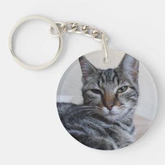Tabby Cat Keychain