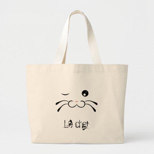 Tabby Cat Large Tote Bag
