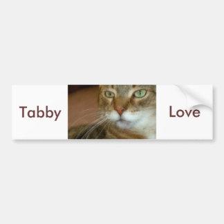 Tabby Cat Love Bumper Sticker