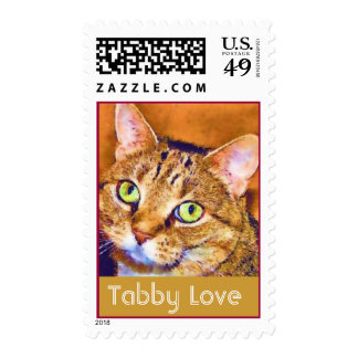 Tabby Cat Love Stamp