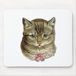 Tabby cat mouse pad