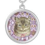 Tabby cat pendant