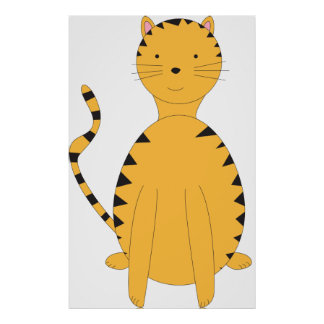 Tabby Cat on a Poster