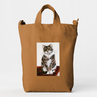 Tabby Cat Painting Duck Bag