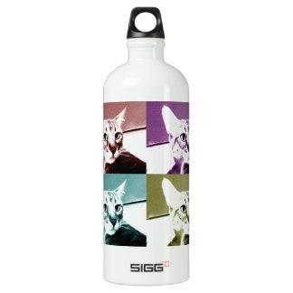 Tabby Cat - Pop Art Aluminum Water Bottle