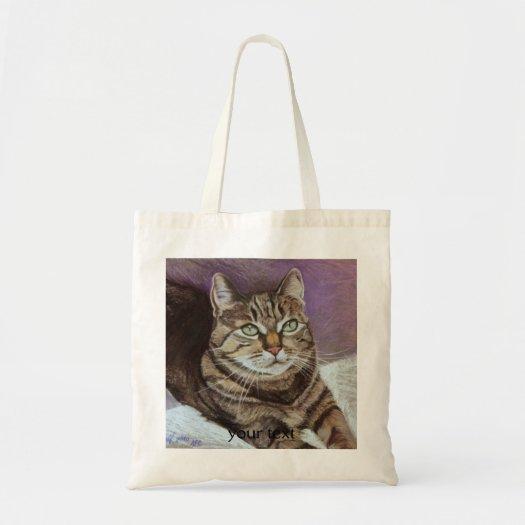 Tabby Cat Portrait Fine Art bags