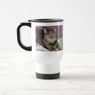 Tabby Cat Portrait Fine Art Travel Mug