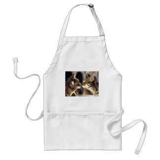 Tabby Cat Reflections Adult Apron
