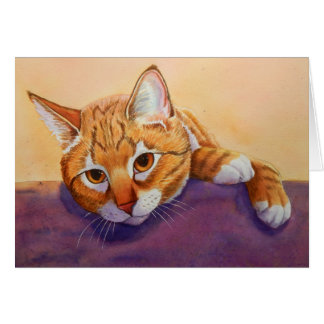 Tabby Cat Regards Card