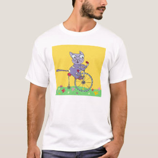 Tabby Cat Ride Bicycle T-Shirt