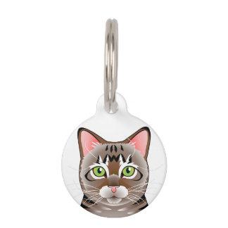 Tabby Cat Round Pet Tag
