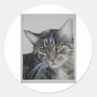 Tabby Cat - samantha Classic Round Sticker
