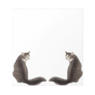 Tabby Cat Tails Notepad