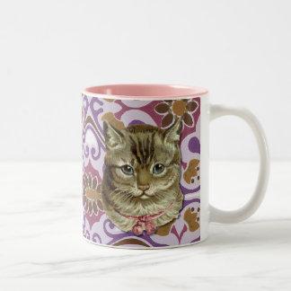 Tabby cat Two-Tone coffee mug