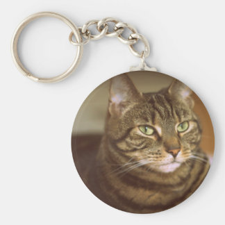 Tabby Cat Vintage 1960s Style Keychain