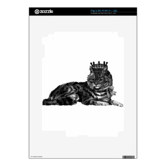 Tabby Cat With Crown Decal For The iPad 2