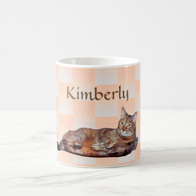 Tabby Cat with Orange Pattern Mug