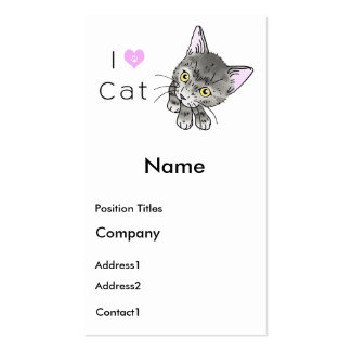 tabby cats business card
