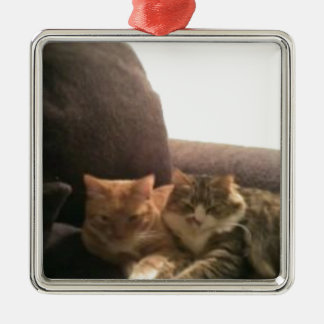 Tabby Cats Metal Ornament