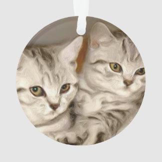Tabby Cats Ornament