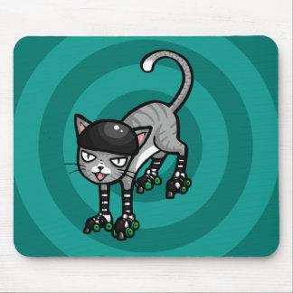 Tabby de plata en RollerSkates Mousepad