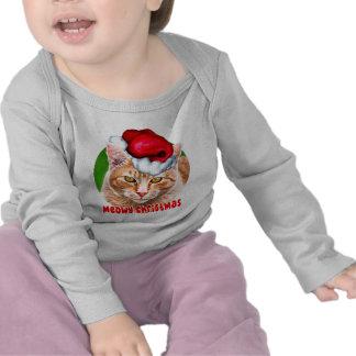 Tabby del navidad de Meowy Camisetas
