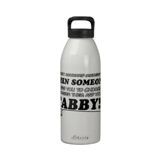 Tabby designs for Cat lovers Reusable Water Bottles