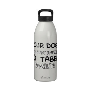 Tabby is family designs water bottles