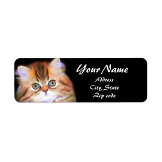 Tabby Kitten Address Labels