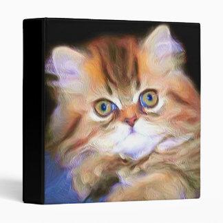 Tabby Kitten binder