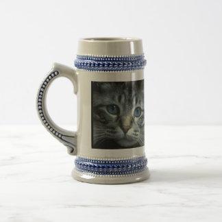 Tabby Kitten Face Coffee Mugs
