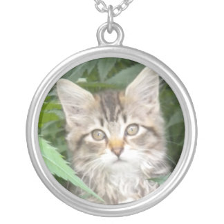 Tabby Kitten Necklace