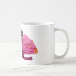 Tabby Kitten one pink towels Coffee Mug