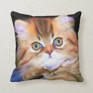 Tabby Kitten square pillow