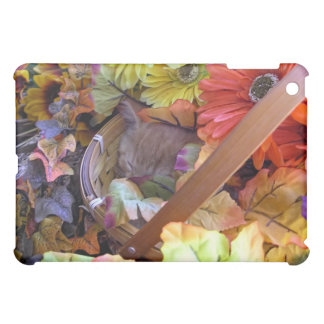 Tabby Kitty Cat Kitten Sleeping ~ Colorful Flowers Cover For The iPad Mini