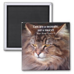 Tabby Maine Coon Cat Lover & Poem Magnet