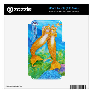 Tabby MerCats Decals For iPod Touch 4G